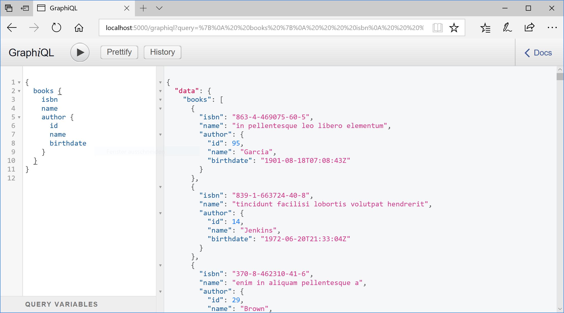 GraphiQL for ASP  NET Core