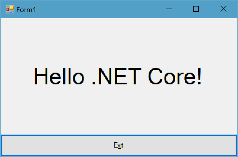 WPF and WinForms will run on  NET Core 3