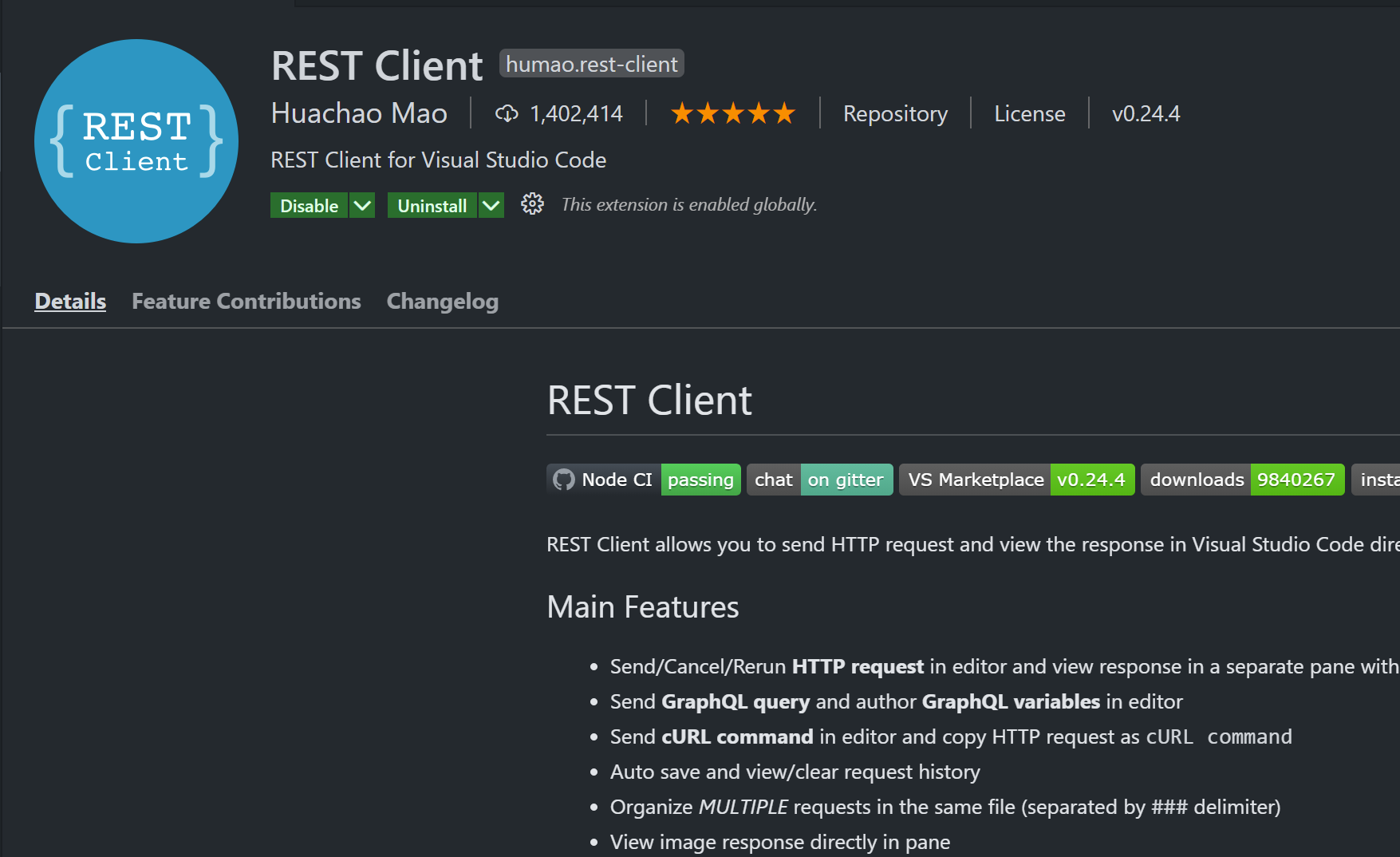 rest client extension