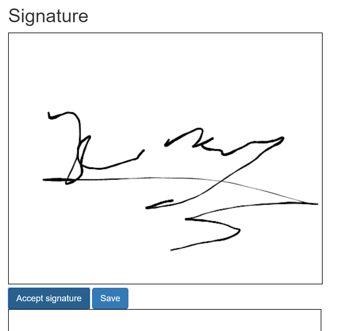 Creating a signature pad using Canvas and ASP  NET Core Razor Pages