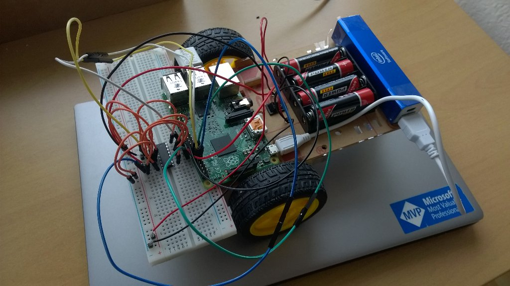 Creating a Windows 10 IoT driven remote controlled car with